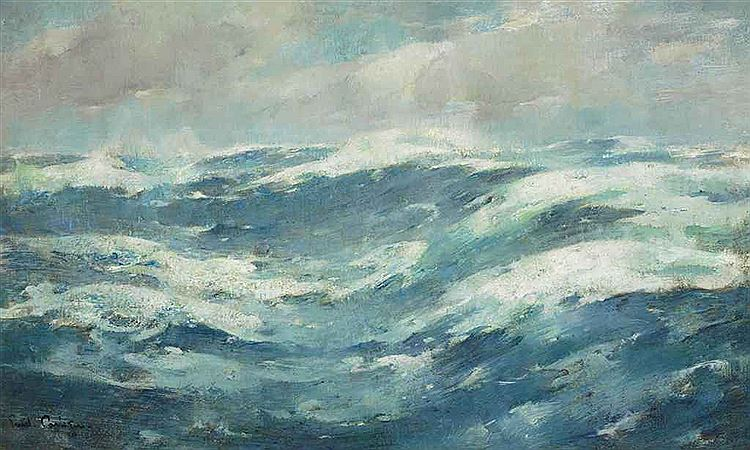 Emil Carlsen : Breaking waves, ca.1913.