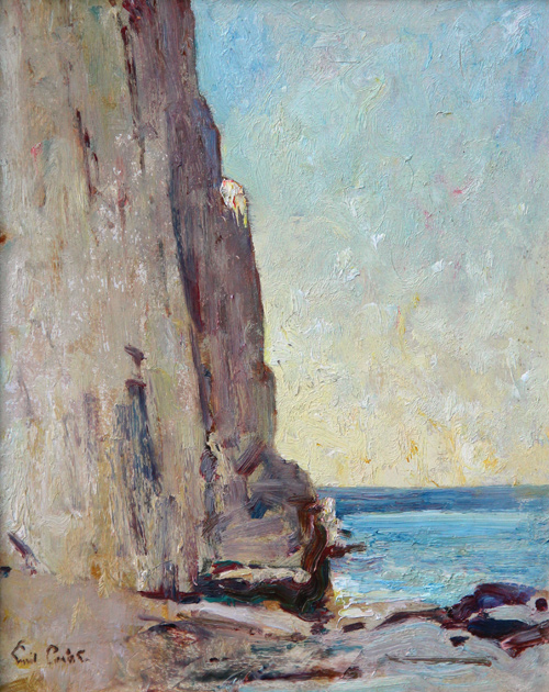 Emil Carlsen Coastal Scene with Cliff Side, ca.1914