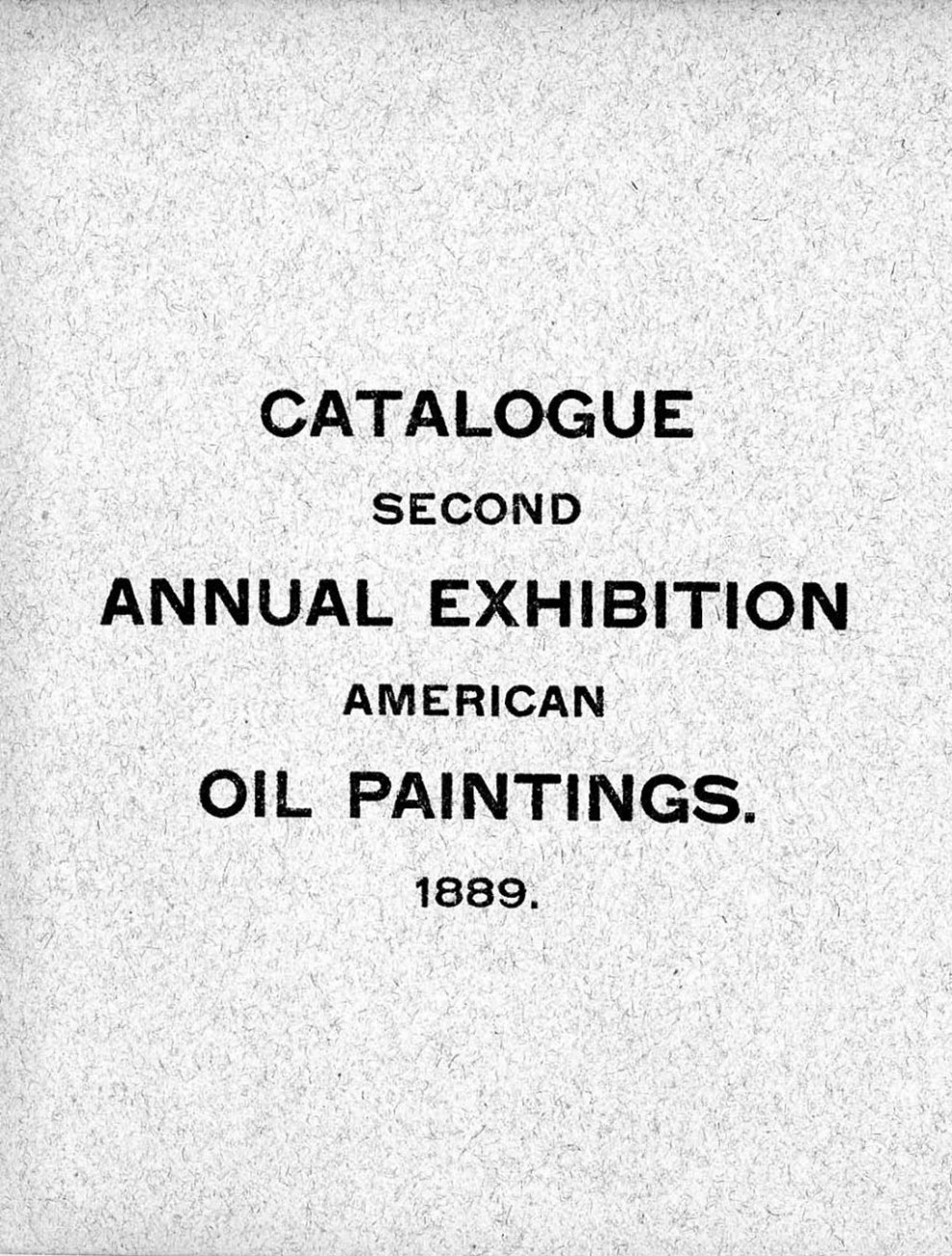 Annual exhibition of American oil paintings