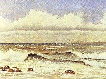 Emil Carlsen : The rough sea, ca.1871.