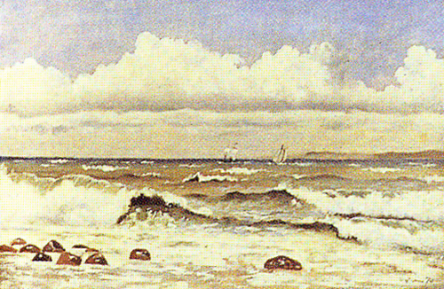 Emil Carlsen : The rough sea, ca.1871.