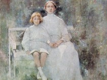 Emil Carlsen Mrs. Carlsen and Dines, c.1912