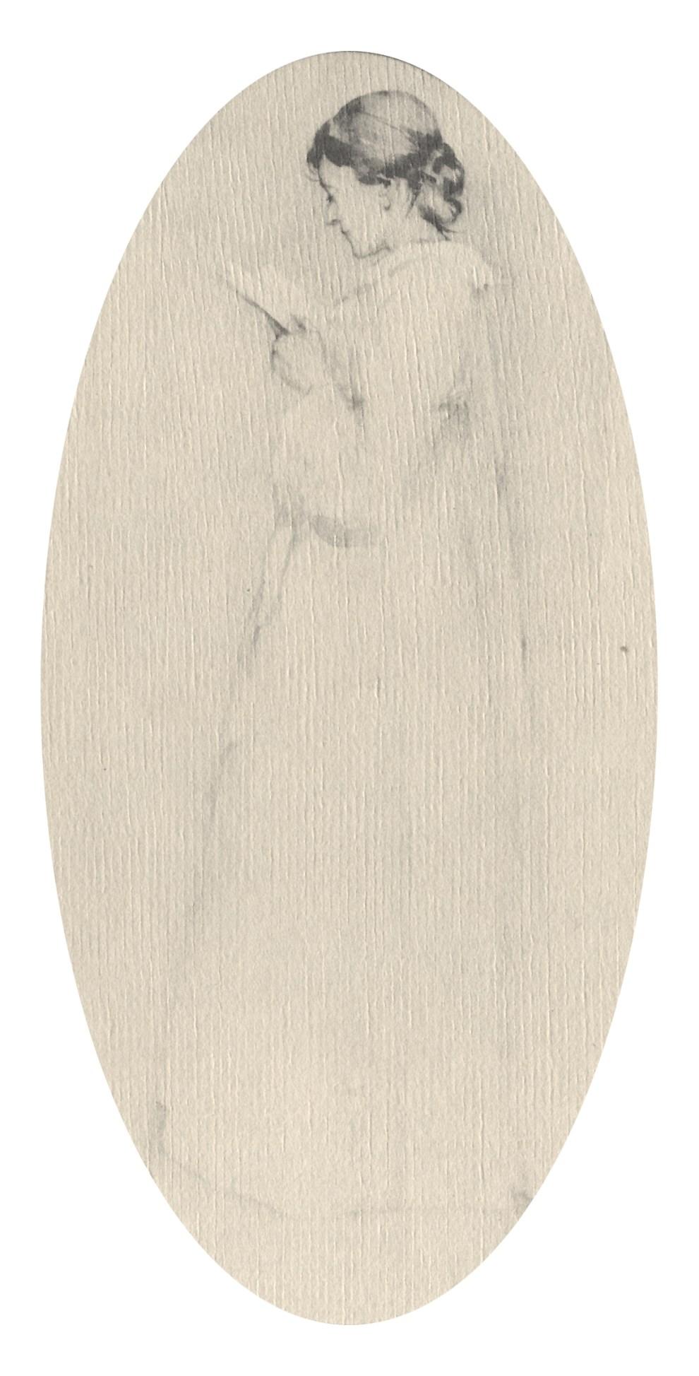 Emil Carlsen Woman in White, Reading, 1894