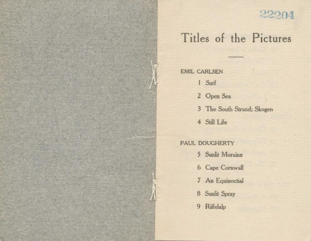 Paintings by Emil Carlsen, Paul Dougherty, Frederick C. Frieseke