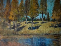 Emil Carlsen Hemlock Grove Study, c.1930