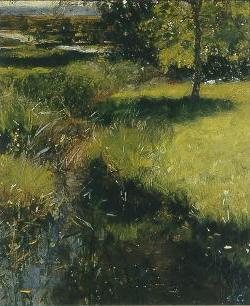 Emil Carlsen : Meadow stream, ca.1885.