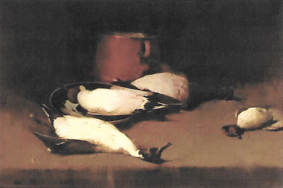 Emil Carlsen Waterfowl and Copper Pot Still Life, 1897