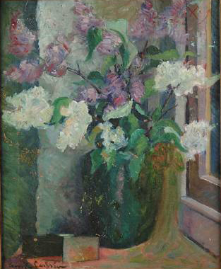 Emil Carlsen Still Life of Flowers in a Vase