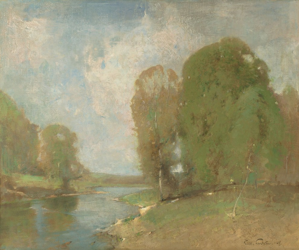 Emil Carlsen : Meadow brook, 1905.