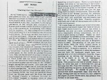"""1886 Daily Evening Transcript, Boston, MA, """"Art Notes: Calling Out the Hounds"""", December 2, Section 6, Page 3."""