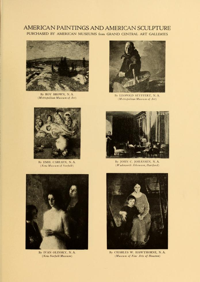 """1927 The Grand Central Art Galleries, New York, NY, """"Exhibition of Paintings and Sculpture Contributed by Artist Members of the Galleries"""", June 1 – September 30"""