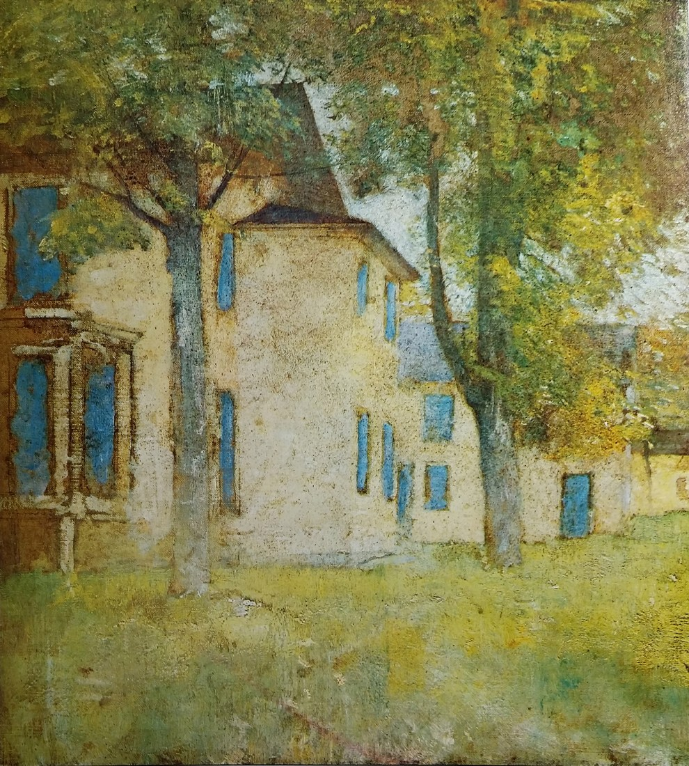Emil Carlsen : Landscape with house, ca.1919.