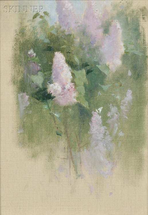 Emil Carlsen Study of Lilacs in Bloom, c.1922