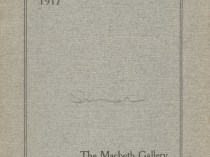 "1917 Macbeth Galleries, New York, NY, ""Summer Exhibition"", June-August"