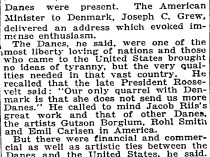 """The New York Times, New York, NY, """"Danes Observe Day."""", July 5, 1921"""
