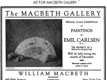 "Scriber's, New York, NY, ""The Macbeth Gallery (ad)"", December 1919, Page 7"