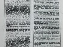 """Daily Evening Transcript, Boston, MA, """"Art and Artists."""", August 22, 1877, 6:2"""