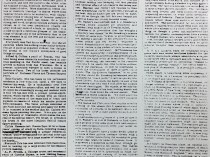"""Daily Evening Transcript, Boston, MA, """"Art Notes: Among the Studios."""", October 2, 1886, 6:3 and 6:4."""