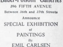 "The Brooklyn Daily Eagle, Brooklyn, NY, ""Bauer-Folsom Galleries Ad"", March 28, 1909, Page 31"