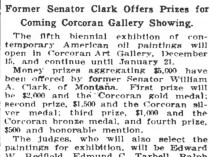 "The Washington Post, Washington, DC, ""$5,000 For American Artists"", October 10, 1914, Page 10"