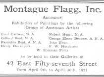 "New York Times, New York, NY, ""Ad for Montague Flagg, Inc."", April 17, 1921, Page 96"