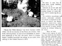"The Post-Crescent, Appleton, WI, ""U.S. Art of Last 100 Years Shown at Paine"", June 17, 1962, Page 36"
