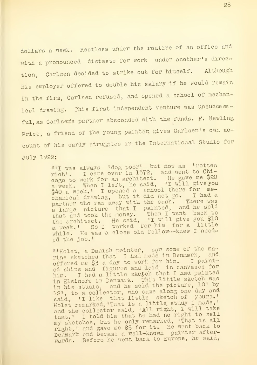 """W.P.A. Project 2871, OP 65-3-3632: Abstract from California Art Research"" Edited by Gene Haily, Volume 5, pages 27-63"