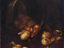 Emil Carlsen : Still life with onions, ca.1886.