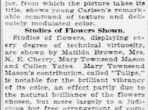 "St. Louis Post-Dispatch, St. Louis, MO, ""Attractive Still Life Paintings at Museum"", October 16, 1921, Sunday, Main Edition, page 52"