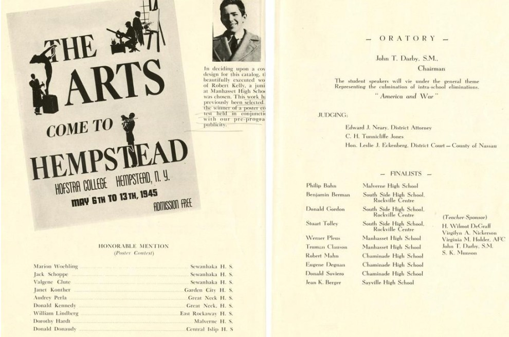 """1945 Hofstra College, Hemptead, NY, """"The Arts Come To Hempstead"""", May 6-13"""