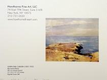 "2011 Hawthorne Fine Art, LLC, New York, NY, Sales Catalog, ""Just off Madison (Event)"", May, illustrated: color"