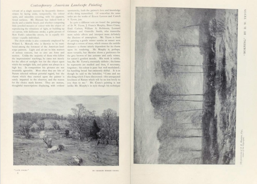 """International Studio, New York, NY, """"The Studio: Contemporary American Painting"""" by L. Mechlin, 1910, volume 39, November, Number 153, pages 3-14, illustrated: B&W"""