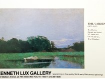 """""""Emil Carlsen Ad from Kenneth Lux Gallery, Unknown Magazine, 1983"""""""