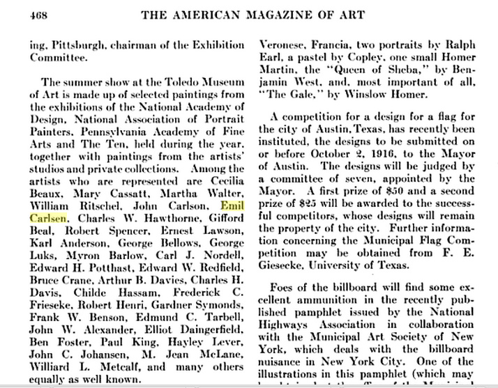 1916 The American Magazine of Art, Volume 7, page 468