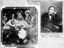 """Pittsburgh Daily Post, Pittsburgh, PA, """"Carlsen Has Exhibition"""", Sunday, July 1, 1923, Page 56, illustrated: B&W"""