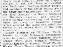 "The San Francisco Call, San Francisco, CA, ""First Art Exhibit Attracts Many"", Sunday, December 2, 1906, First Edition, page 42, not illustrated."