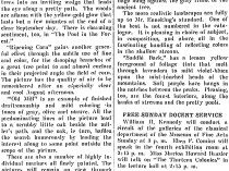 "The Christian Science Monitor, New York, NY, ""Emil Carlsen Has Exhibition"", April 13, 1912, page 6, not illustrated"