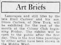 "Detroit Free Press, Detroit, MI, ""Art Briefs"", Sunday, January 1, 1933, page 32, not illustrated"