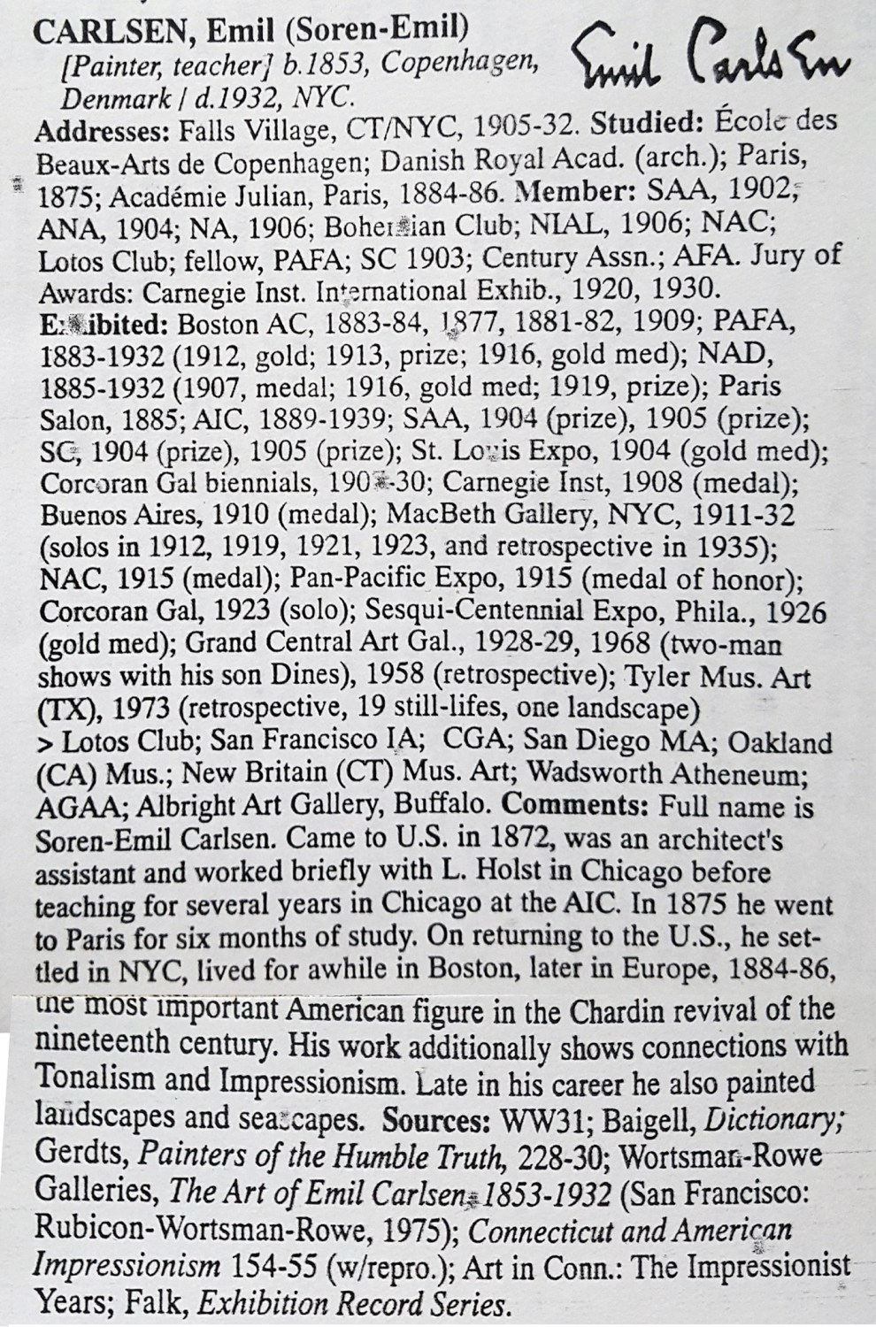Who Was Who In American Art 1564-1975