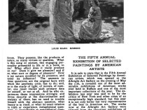 """Academy Notes, Buffalo Fine Arts Academy, Albright Art Gallery, Buffalo, NY, """"The Fifth Annual Exhibition of Selected Paintings by American Artists"""", July, 1910, Volume 5, Number 3, page 7-15, not illustrated."""