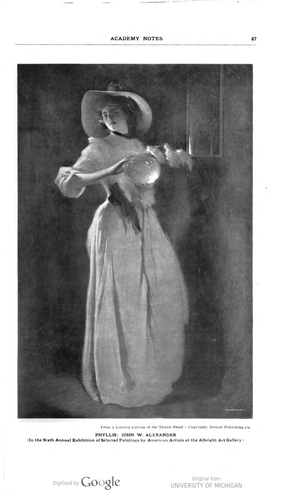 """Academy Notes, Buffalo Fine Arts Academy, Albright Art Gallery, Buffalo, NY, """"The Sixth Annual Exhibition of Selected Paintings by American Artists at the Albright Art Gallery"""", July, 1911, Volume 6, Number 3, page 76-93, not illustrated"""
