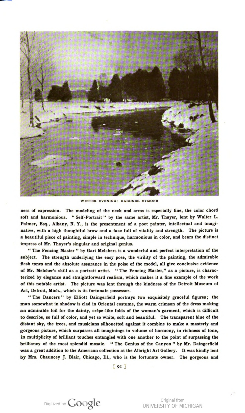 "Academy Notes, Buffalo Fine Arts Academy, Albright Art Gallery, Buffalo, NY, ""The Summer Exhibition of American Paintings at the Albright Art Gallery"", July, 1914, Volume 9, Number 3, page 83-107, not illustrated"