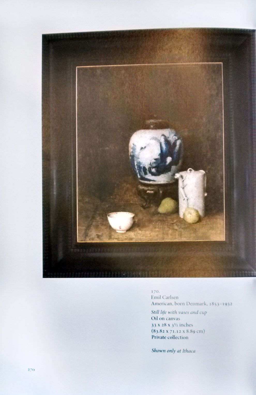 "1985 Mansfield Art Center, Mansfield, OH, ""The American Still Life from the Peales to C. A. Meurer"", March 10 - April 7."