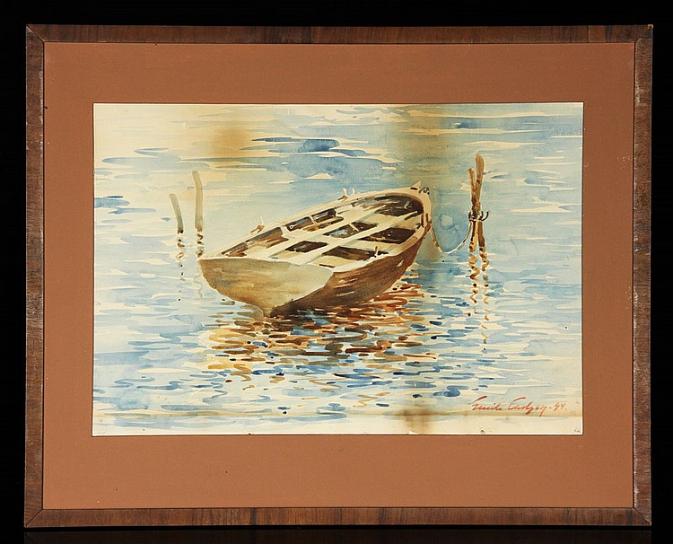 Emil Carlsen Moored Boat, 1894