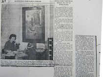 "Illinois Journal, ""Acquires Art Treasure: DuPage County Credit Bureau Manager Pays $35 for $2,000 painting"", January 17, 1938, illustrated: b&w."