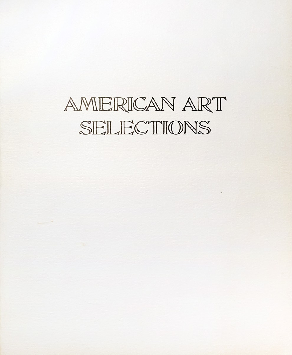 "1973 Mann Galleries, Miami, FL, ""American Art Selections"", 1973"