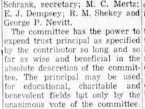 "Oshkosh Daily Northwestern, Oshkosh, WI, ""Foundation For Oshkosh Makes Report"", July 26, 1952, Saturday, Main Edition, page 4, not illustrated"