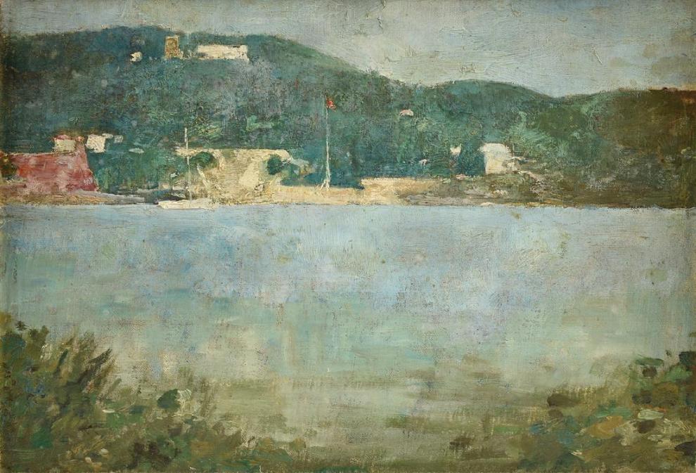 Emil Carlsen : Coastal scene, ca.1907.