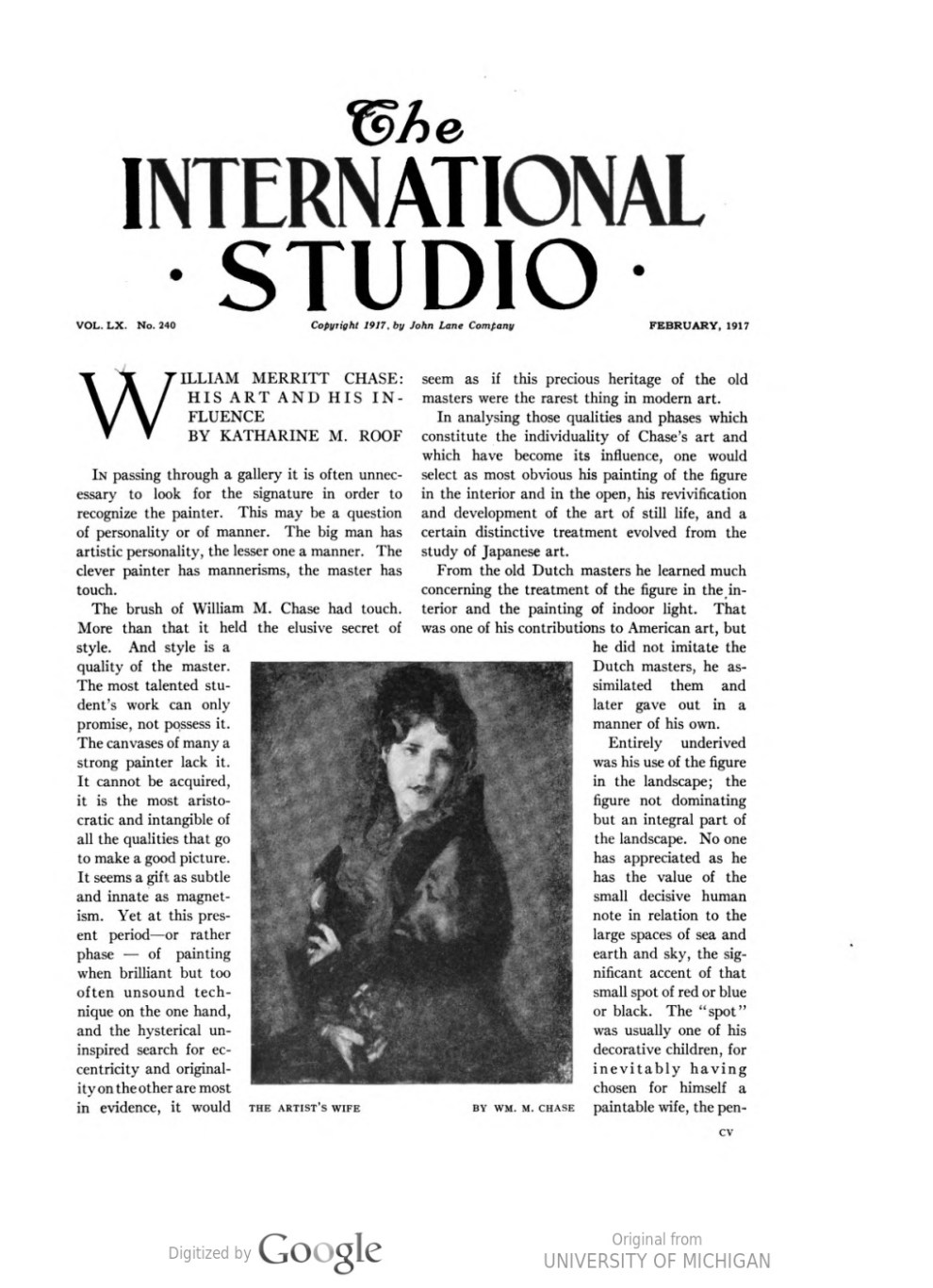 "The International Studio, New York, NY, ""Some Philadelphian exhibitions"" by Eugene Castello, February, 1917, volume 60, number 240, page 114-116, not illustrated"