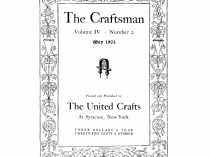 "The Craftsman, Syracuse, NY, ""Notes"", volume 4, number 2, The United Crafts, Syracuse, NY, May, 1903, page 142, not illustrated"